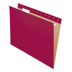 Pendaflex Essentials Colored Hanging Folders, 1/5 Tab, Letter, Burgundy, 25/Box