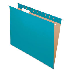 Pendaflex Essentials Colored Hanging Folders, 1/5 Tab, Letter, Teal, 25/Box