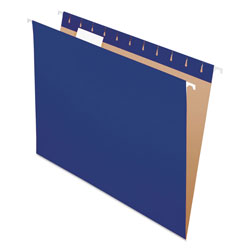 Pendaflex Essentials Colored Hanging Folders, 1/5 Tab, Letter, Navy, 25/Box