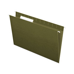 Pendaflex Essentials Standard Green Hanging Folders, 1/3 Tab, Legal, 25/Box
