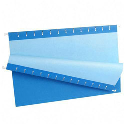 Pendaflex Recycled Colored Hanging File Folders, Legal, 1/5 Cut Tabs, Blue, 25/Box