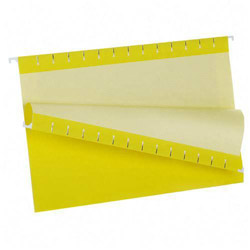 TOPS Recycled Colored Hanging File Folders, Legal, 1/5 Cut Tabs, Yellow, 25/Box