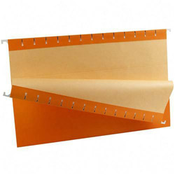 TOPS Recycled Colored Hanging File Folders, Legal, 1/5 Cut Tabs, Orange, 25/Box