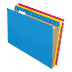 Pendaflex Essentials Colored Hanging Folders, 1/5 Tab, Legal, Assorted Colors, 25/Box