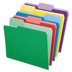 Pendaflex File Folders with Erasable Tabs, 1/3 Cut Top Tab, Letter, Assorted, 30/Pack