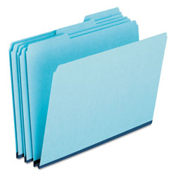 Pendaflex Pressboard Expanding File Folders, 1/3 Cut Top Tab, Legal, Blue, 25/Box