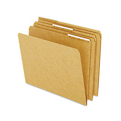 Pendaflex Kraft Angled Plastic Tab File Folders, 1/3 Cut Top Tab, Letter, Brown, 50/Box