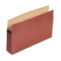 TOPS Expanding File Pockets, Legal, Red