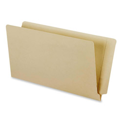 "TOPS End Tab Manila File Folders, Straight 2 Ply Tab, 9 1/2"" Front, Legal, 100/Box"