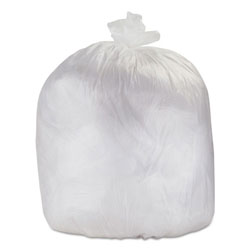 "Flexsol High Density Clear Flat-Bottom Trash Bags, 56 Gallon, 14 Micron, 43"" X 48"", Case of 200"