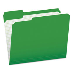 Pendaflex Reinforced Top Tab File Folders, 1/3 Cut, Letter, Green, 100/Box