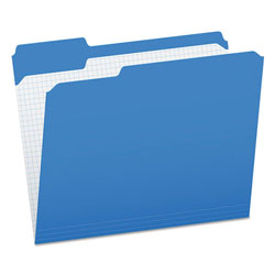 Pendaflex Reinforced Top Tab File Folders, 1/3 Cut, Letter, Blue, 100/Box