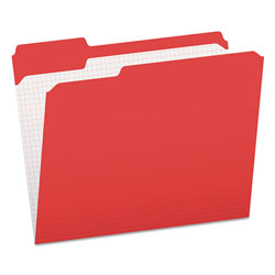 Pendaflex Reinforced Top Tab File Folders, 1/3 Cut, Letter, Red, 100/Box