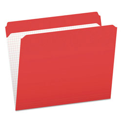 Pendaflex Reinforced Top Tab File Folders, Straight Cut, Letter, Red, 100/Box