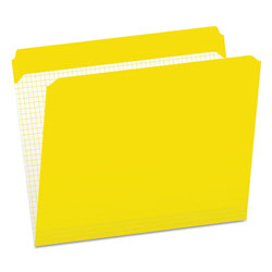 Pendaflex Reinforced Top Tab File Folders, Straight Cut, Letter, Yellow, 100/Box