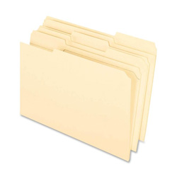 TOPS File Folder, 1/3 Cut Assorted Tab, 2 Ply, Legal, Manila