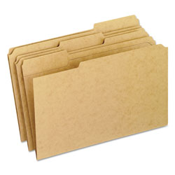 Pendaflex Two-Ply Dark Kraft File Folders, 1/3 Cut Top Tab, Legal, Brown, 100/Box