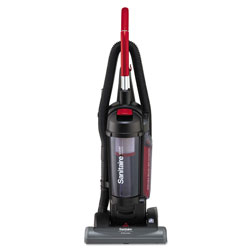 Electrolux Sanitaire True HEPA Commercial Bagless/Cyclonic Upright Vacuum, Red