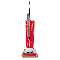 "Eureka Upright Vacuum, 7amps, Std Fltr., 14"" x 13"" x 45"" Brick Red/Chrome"