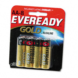 Energizer Gold A91BP-8 Alkaline Batteries, AA
