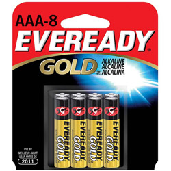Energizer Gold A92BP-8 Alkaline Batteries, AAA