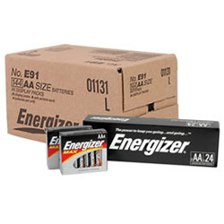 Energizer Alkaline AA Batteries, Case Of 144