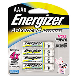 Eveready Advanced Lithium Batteries, AAA, 8/Pack