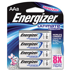 Energizer L91BP-8 Lithium Batteries, AA