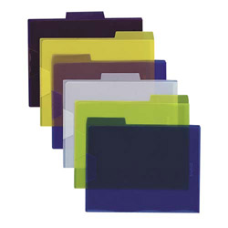 Esselte View Folder, 1/3 Cut Tabs, Letter, 6/PK, Assorted