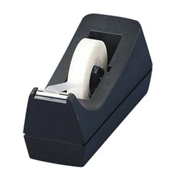 "Business Source Tape Dispenser, Desktop, Holds 1/2""-3/4""x36 Yds, 1""Core, BL"