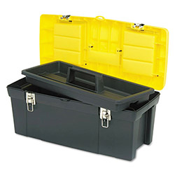"Stanley Bostitch Heavy-duty Tool Box, 19-1/4"" x 10-1/4"" x 9-3/4"", Black/Yellow"