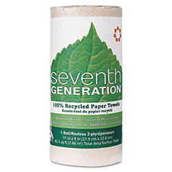 Seventh Generation 13720 Brown Lint Free 2 Ply Jumbo Paper Towels