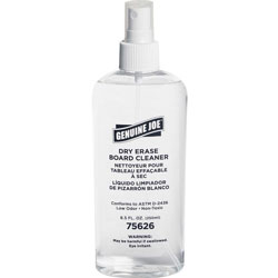 Genuine Joe Board Cleaner, Dry-Erase, Low Odor, 8Ounce, Pump Spray