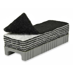Chenille Kraft Company 12-in-1 Whiteboard Eraser in Plastic Holder, Black/White