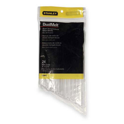 "Stanley Bostitch Dual Temperature Mini Glue Sticks, 4"", Clear, 24/Pack"