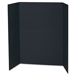 "Pacon Presentation Board, 48""x36"", 24/CT, Black"
