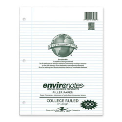 "Roaring Spring Paper Filler Paper, College Ruled, 170 Sheets, 11""x8-1/2"", White"