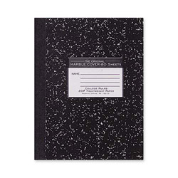 "Roaring Spring Paper Composition Book, 20lb., College Rld, 10-1/4"" x 7-3/4"" 80Sh, BK"