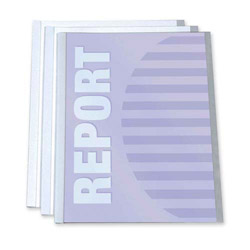 C-Line Report Cover with Binding Bar, Clear, Pack of 3