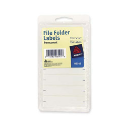 "Avery File Folder Labels, 5/8""x2 3/4"", 156 per Pack, White"