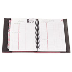 "Daytimer Weekly Planner, Jan-Dec, 2PPW, Journal 5-1/2"" x 8-1/2"" PK/GY Cvr"
