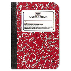 "Mead Memo Book, Narrow Ruled, 80 Sheets, 5-1/2""x4"", Assorted"