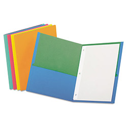 Oxford Twisted Twin Pocket Folder with Fasteners, 135-Sheet Capacity, Assorted