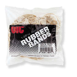 Officemate Rubber Bands, 1-3/8 oz., Assorted Sizes, Natural