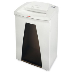 "HSM Strip Cut Shredder, 19-2/3""x15-3/4""x31-1/3"", White/Black"