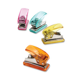 "Baumgarten's Single Hole Punch, Mini, 3-1/2""x3""x2"", Assorted"