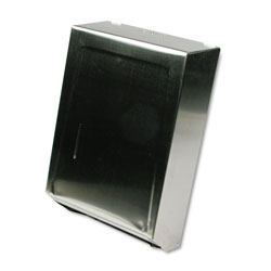 Ex-Cell Metal Wall Mount C-Fold / Multi-Fold Paper Towel Dispenser, Stainless Steel