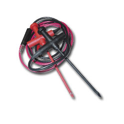 "E-Z Hook 36"" Red / Black Straight Banana Plug Insulated Piercing Probe Set"