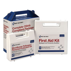 First Aid Only First Aid Kit With Personal Protection & CPR Pack, 50 Person, ANSI Compliant
