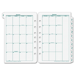 Franklin Covey Original Dated Monthly Planner Refill, January - December, 5-1/2 x 8-1/2